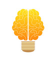 creative concept human brain in the lamp vector image