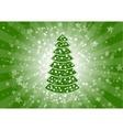 green christmas vector image