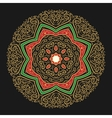 Hand Drawn Golden Mandala vector image
