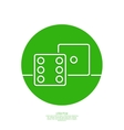 icon dice cubes vector image