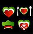 Italian cuisine symbols vector image