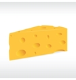 piece of yellow porous cheese with holes vector image