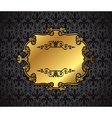 Royal gold Picture frame on the dark wallpaper vector image