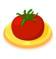 tomato icon isometric 3d style vector image