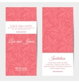 vertical wedding invitations vector image