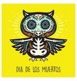 Dia De Los Muertos Greeting card with sugar skull vector image