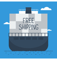 Delivery oversea by ship vector image