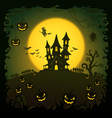 Scary house Halloween background vector image