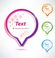 speech bubbles icons set vector image vector image