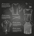 set of woman casual clothes vector image