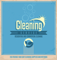 Vintage poster design for cleaning service vector image