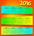 2016 calendar modern simple design vector image