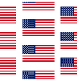 Flag of the United States seamless pattern vector image vector image