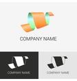 Abstract logo ribbon sign vector image