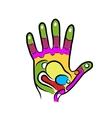 Hand sketch for your design massage reflexology vector image vector image