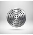 Abstract Technology Circle Metal Badge vector image vector image