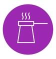 Coffee turk line icon vector image
