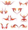 Fire tattoo set vector image