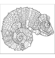 Hand drawn doodle outline chameleon vector image