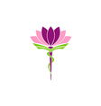 lotus flower medicine pharmacy beauty logo vector image