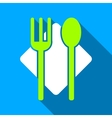 Nutrition Flat Long Shadow Square Icon vector image