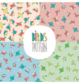 Set of patterns with birds vector image