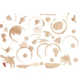Set of variuos coffee stains isolated on white vector image