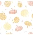 Thanksgiving pumpkins textile seamless pattern vector image