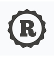 Registered trademark icon Intellectual work vector image