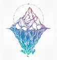 hand drawn beautiful iceberg vector image