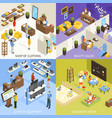 shopping mall isometric design concept vector image