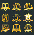 badges certificates and seal icons number o vector image