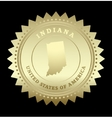 Gold star label Indiana vector image vector image