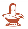shivling statue vector image vector image