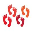 set of a print foots vector image