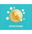 bitcoin exchange with currency icons vector image