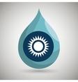 symbol of sun isolated icon design vector image