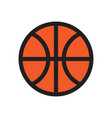 basketball flat icon vector image