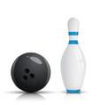 Bowling pin and ball - vector image