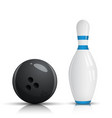 bowling pin and ball - vector image
