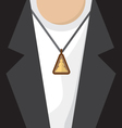 Buddhist Amulet Necklace vector image