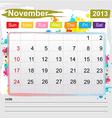 Calendar November 2013 vector image