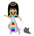 Girl egyptian vector image