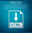 html file document icon download html button icon vector image