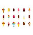 ice cream icon set flat style vector image