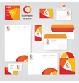Identity corporative set design template in hot vector image