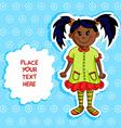 Little black girl card vector image