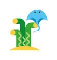 marine stingray isolated icon vector image