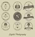 Photography Vintage Creative Logo Concept vector image