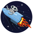 robot on the space rocket vector image